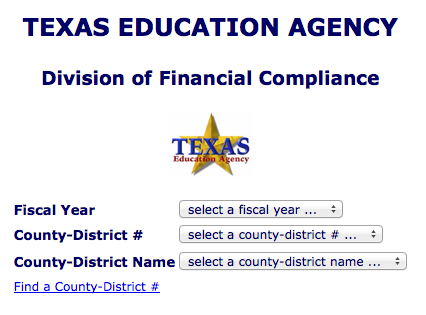 Texas Education Agency - annual audit report search