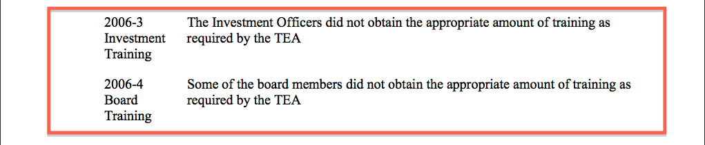 Auditors Report 2006 failure to received training part  1