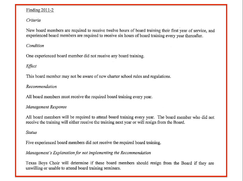 Auditors Report 2012 2013 failure to received training part 3